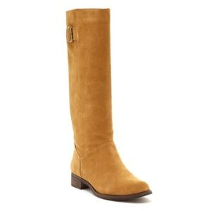CHARLES DAVID 'DIXON' SUEDE CAMEL BOOTS SIZE 8